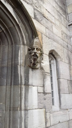 The face of St. Patrick on the Chapel Royal at Dublin Castle