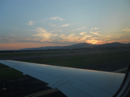 I was not supposed to take off at sunset....