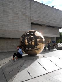 """Arnaldo Pomodoro's sculpture """"Sfera con Sfera"""""""