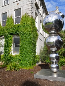 "Eilís O'Connell's sculpture ""Apples and Atoms"""