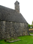 St. Kevin's Kitchen, a 12th century chapel still nearly in tact.