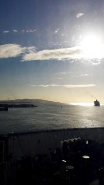 Leaving the Dublin port
