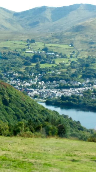 Looking down at Llanberis and Llyn Padarn