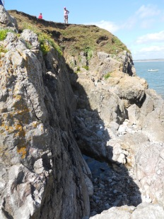 The path to scramble up from the Causeway to the Inner Head