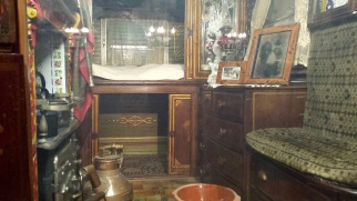 Interior of the museum's Romani caravan