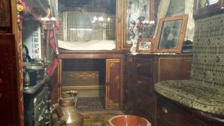 Interior of the museum's Romani caravan